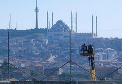 Başkan Murat Sancak cezası nedeniyle maçı vinç üzerinde izledi