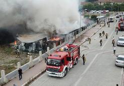 Son dakika... Esenyurtta işçilerin kaldığı konteynerlerde yangın