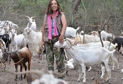 Köyde keçi güden Nişantaşı kızı sürüsünü de işini de büyüttü