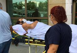 Antalya'da 2 polisi yaralayan zanlı adliyede sedye ile getirildi
