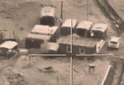 Azerbaycan Savunma Bakanlığı, Ermenistan hedeflerinin vurulma anlarını paylaştı