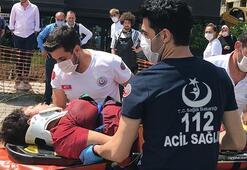 Beşiktaşta halk otobüsü yaya geçidindeki kadına çarptı