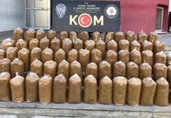 Adanada 320 kilo kıyılmış tütün ele geçirildi