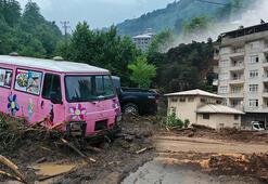 Rizeyi sel vurdu 125 kişi bölgeden tahliye edildi