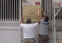 Son dakika: Ayasofyada tarihi an Tabelalar kaldırıldı