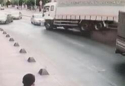 Bağcılar'daki kamyon dehşeti güvenlik kamerasına böyle yansıdı
