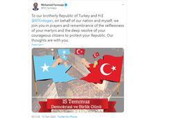 Somali lideri Fermacudan 15 Temmuz mesajı
