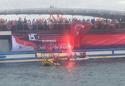 15 Temmuz anısına İstanbul Boğazında anma dalışı düzenlendi