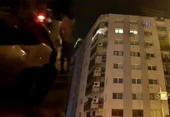 İzmirde meydana gelen depremde paniğe kapılan bir kişi 7nci kattan atladı