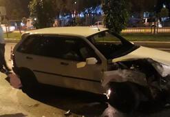 Aydında polisin dur ihtarına uymadı, kaza yaptı yakalandı