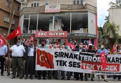 Şırnakta HDP binası önünde PKK tepkisi