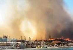Son dakika haberi: İzmir Alaçatıda korkutan yangın Kontrol altına alındı