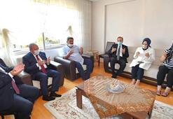 TBMM Başkanı Şentop Tekirdağda şehit ailesini ziyaret etti