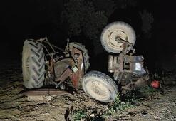 Çok feci kaza Traktör 3 parçaya ayrıldı
