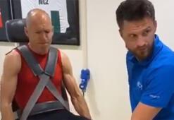 Futbola geri dönen Arjen Robben sıkı çalışıyor...