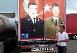 Gürcistan polisine direndi, TIRdaki milli kahramanların fotoğrafını söktürmedi