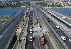 Haliç Köprüsünde bakım ve onarım çalışması başladı