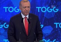Cumhurbaşkanı Erdoğan, TOGG töreninde konuştu