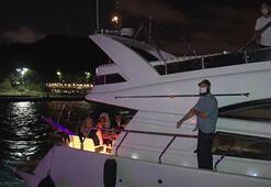İstanbul Boğazındaki teknelerde corona virüs denetimi