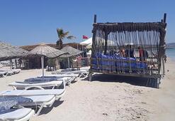 Çeşmede kumsaldaki 1500 liralık localara büyük tepki