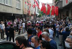 Şehit polisin Bağcılardaki evinin önünde helallik alındı