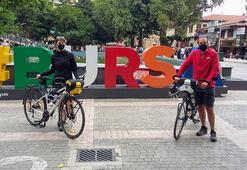 Barcelonadan Bursaya bisikletle geldiler