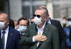 Cumhurbaşkanı Erdoğan, yapımı devam Taksim Camisi ile AKMde incelemelerde bulundu