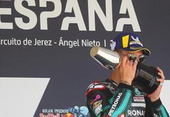MotoGPde ilk yarışta zafer Quartararonun