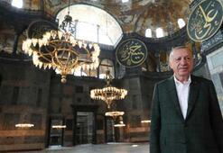Cumhurbaşkanı Erdoğandan Ayasofya Camiine sürpriz ziyaret