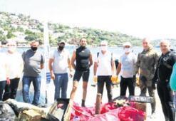 Türkbükü Koyu'ndan 133 kilo atık toplandı