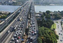 Haliçte trafik yoğunluğu