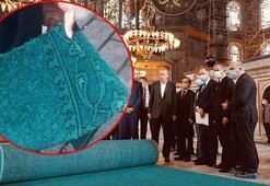 Ayasofya Camisinin halıları seriliyor
