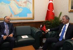 Son dakika... Bakan Akar Katar Savunma Bakanı ile görüştü