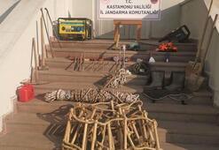 Kastamonuda kaçak kazı yapan 4 kişi suçüstü yakalandı