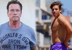 Arnold Schwarzenegger oğlu Joseph Baena tatilin tadını çıkarıyor