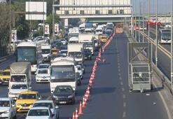 Haliç Köprüsünde trafik yoğunluğu
