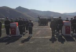 Hakkari şehidi 2 asker törenle memleketlerine uğurlandı