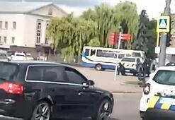 Son dakika... Ukrayna'da dehşet anları Yolcu otobüsünde 20 kişiyi rehin aldı