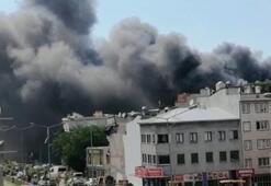 Bursada korku dolu anlar Tekstil fabrikası alev alev yandı