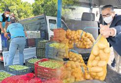 10 ton patates 5 ton bamya