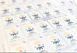 Belediye logolu  dört bin pul basıldı