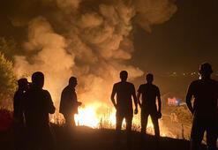 Arnavutköyde korkutan yangın Ormana sıçramasın diye uğraştılar...