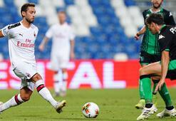 Hakan Çalhanoğlu-Zlatan İbrahimovic iş birliği, Milana galibiyeti getirdi