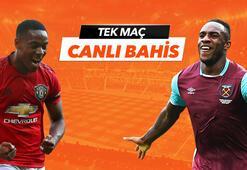 Manchester United - West Ham United maçı Tek Maç ve Canlı Bahis seçenekleriyle Misli.com'da