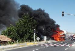 Ankarada feci kaza TIRlar çarpıştı