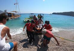 Fethiyede denize düşen yamaç paraşütü pilotu ağır yaralandı