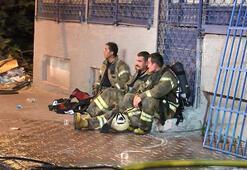 Ümraniyede korkutan yangın Ekipler oraya koştu