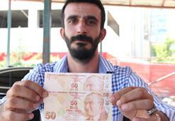 Hatalı basılmış 50 TL'lik banknotu rekor fiyata satmak istiyor