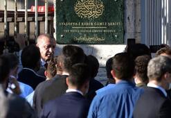 Son dakika… Erdoğan ve Bahçeli Ayasofyada Cami tabelası asıldı