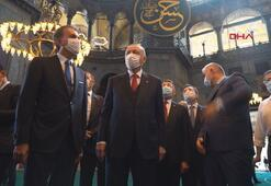 Cumhurbaşkanı Erdoğan, Ayasofya Camisinde incelemelerde bulundu